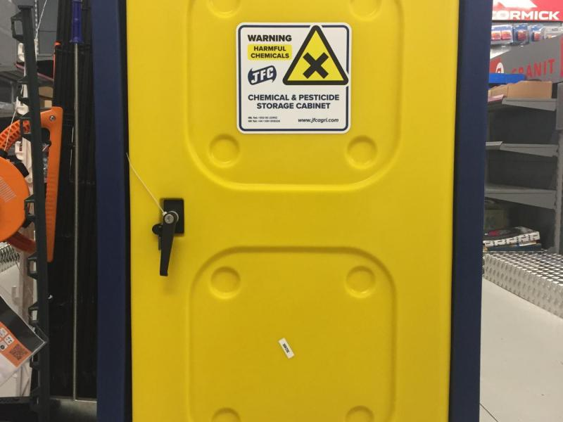 JFC lockable chemical and pesticide cabinet