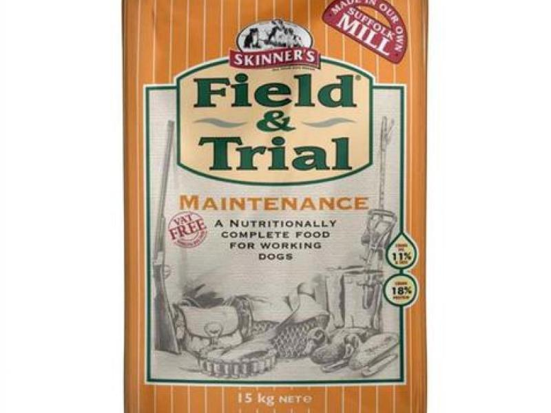 Skinners Field and trial maintenance dog food